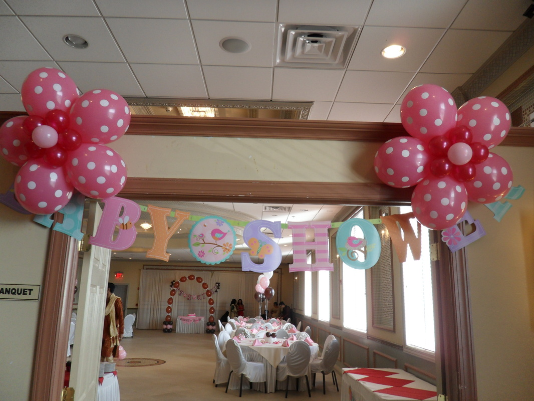 Baby shower 2 party decorations by teresa for Baby shower flower decoration ideas