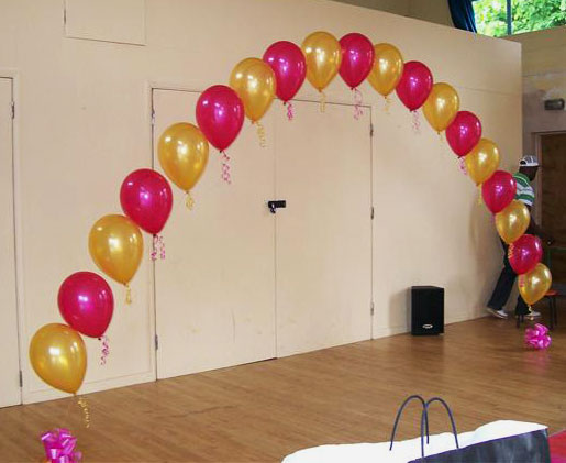 Catalog party decorations by teresa for Arch balloon decoration