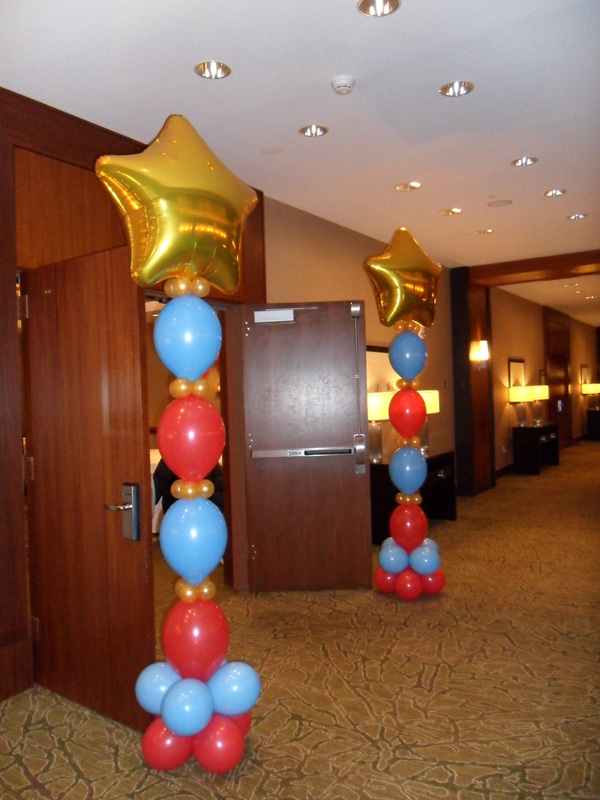 Corporate party party decorations by teresa for 7 star balloon decoration