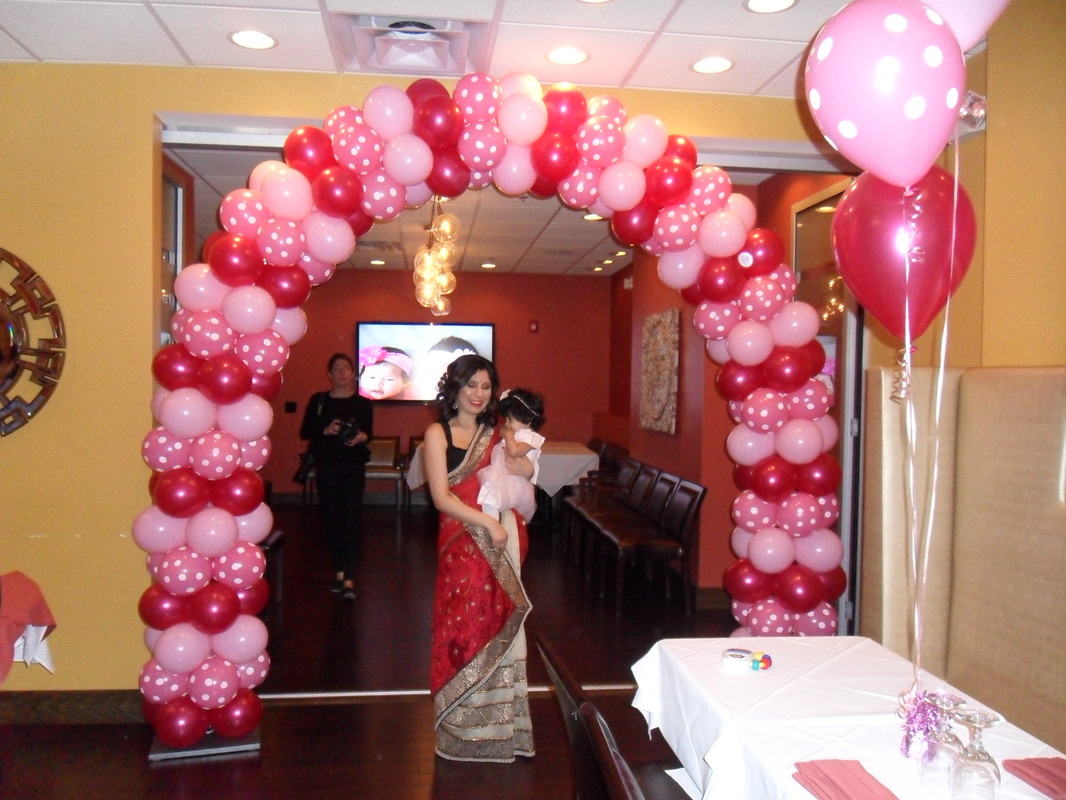 magenta, rose polka-dots and lt. pink party - party decorations