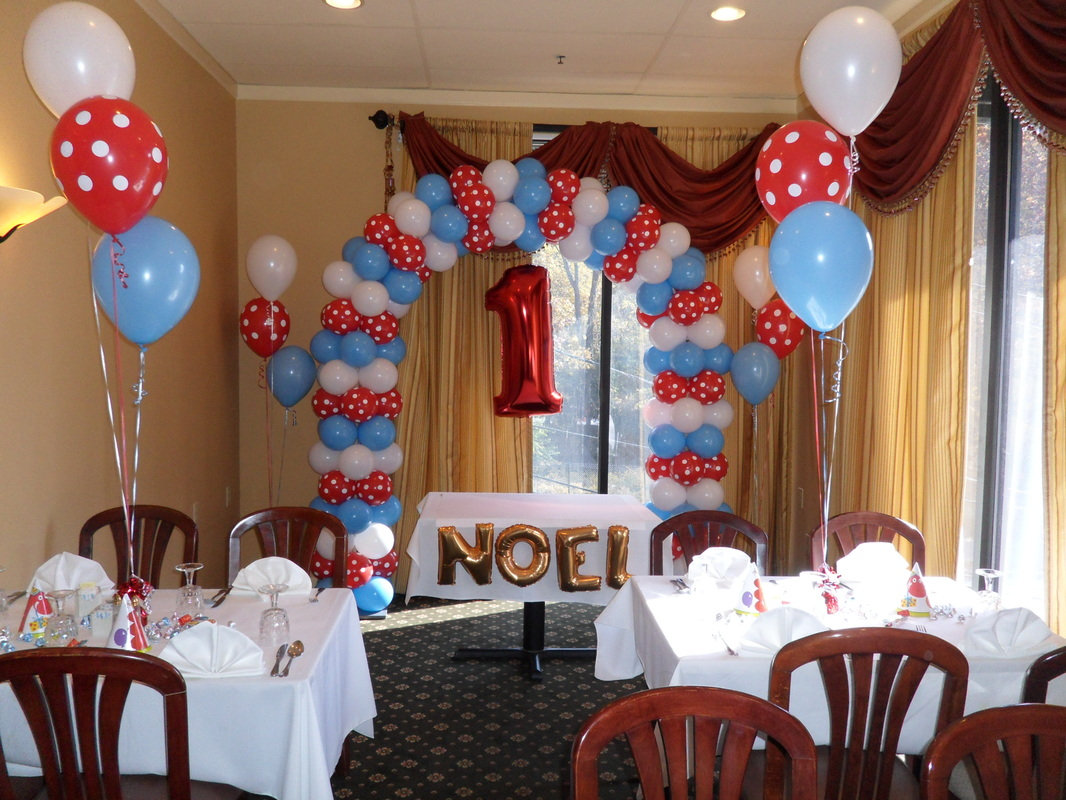 BLUE, RED AND WHITE PARTY - PARTY DECORATIONS BY TERESA