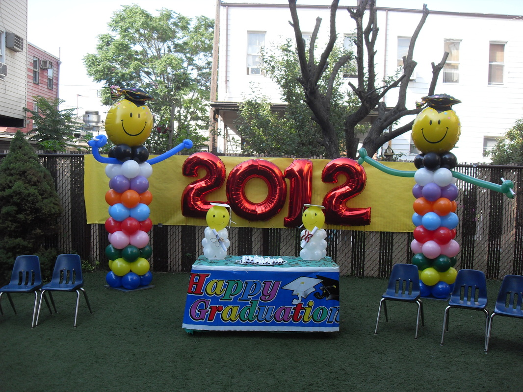 Pre k graduation party decorations by teresa for Balloon decoration classes