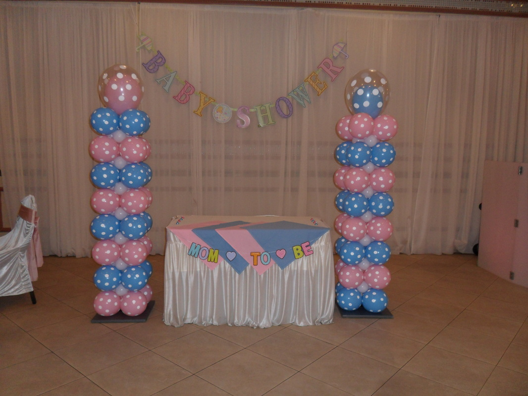 Boy or girl party decorations by teresa for Baby decoration party