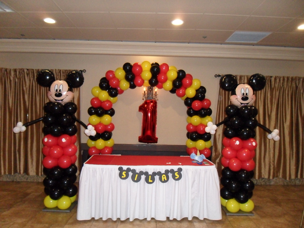 MICKEY MOUSE PARTY 3 PARTY DECORATIONS BY TERESA