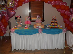 MINNIE S 1st PARTY - PARTY DECORATIONS BY TERESA