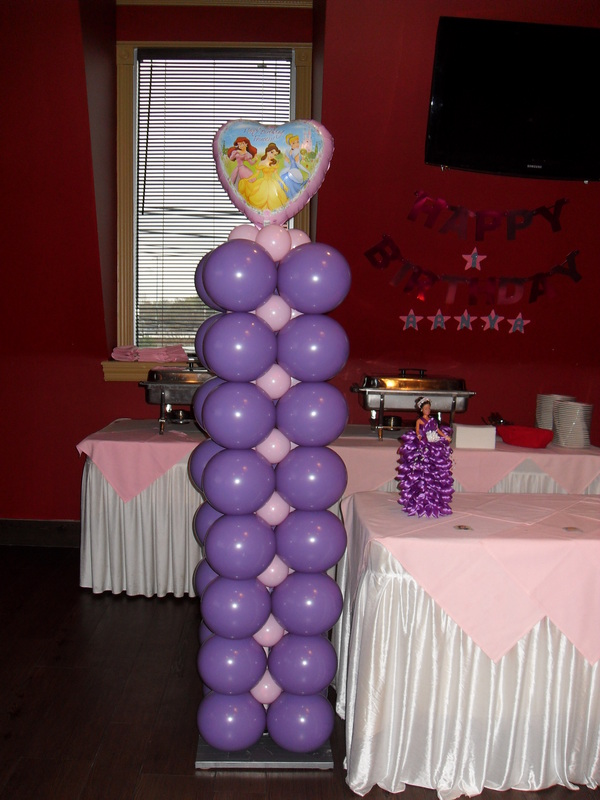 First birthday girl party decorations by teresa for Balloon decoration for 1st birthday party