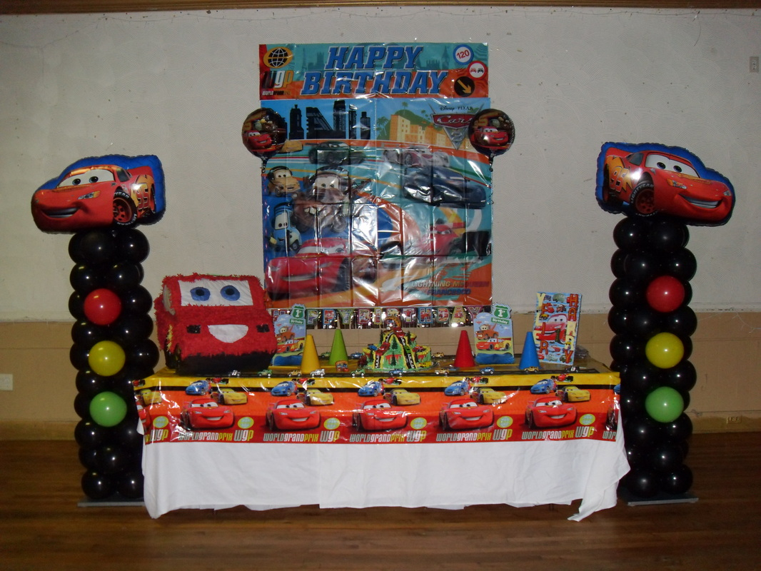 I Decorated This Cars Theme Party For Two Little Boystwins It Was Their First Birthday What A Colorful And Fun To Decorate