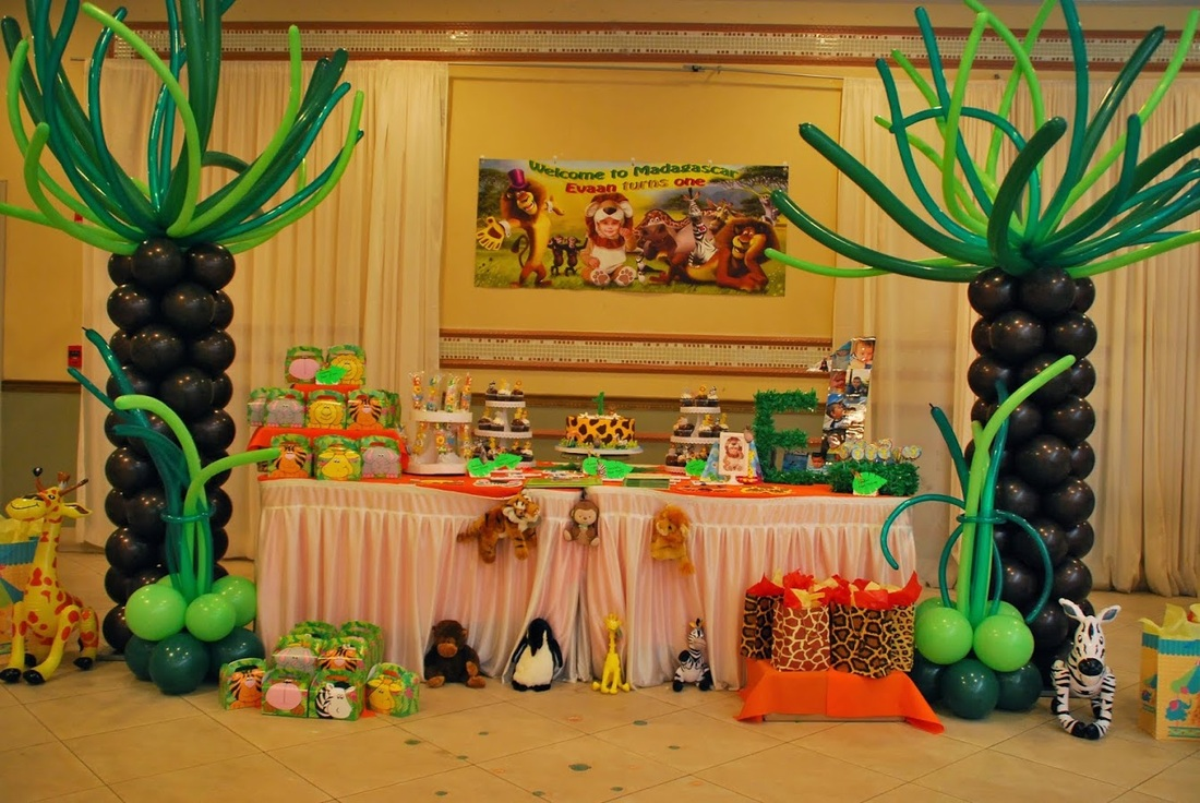 Madagascar Party Decorations By Teresa