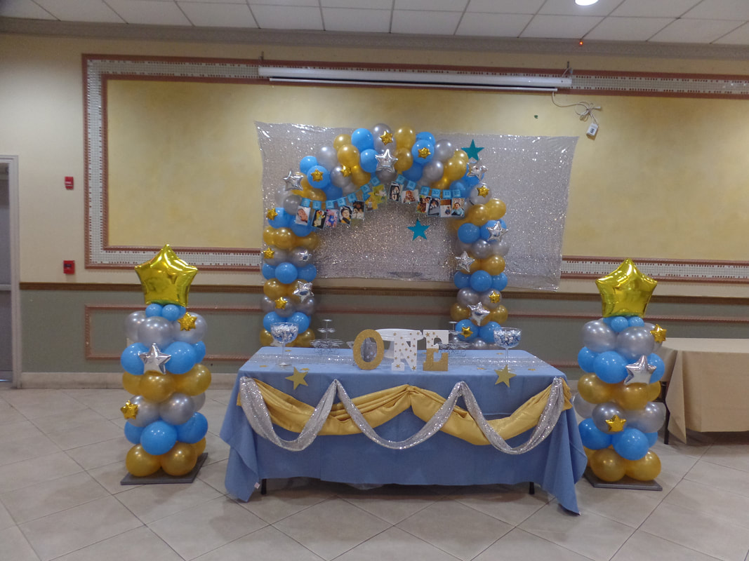 Tremendous Gold Pale Blue And Silver Party Party Decorations By Teresa Download Free Architecture Designs Scobabritishbridgeorg