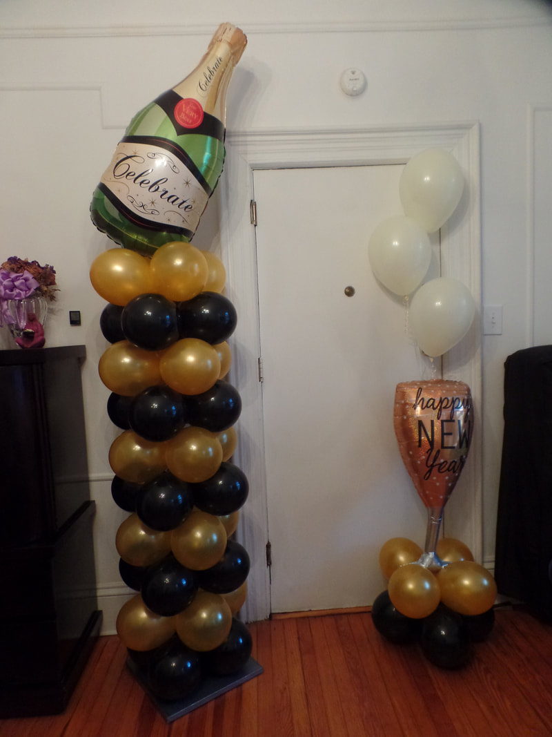NEW YEAR'S EVE BALLOON DECORATION - PARTY DECORATIONS BY ...